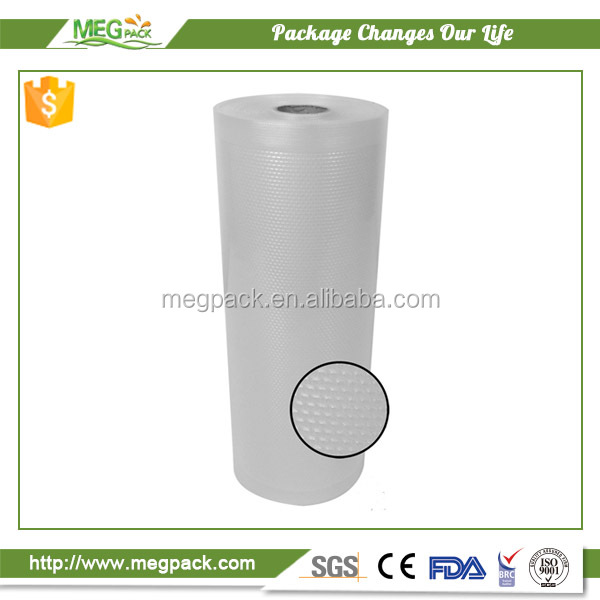 Co-extruded PA/PE and laminated embossed vacuum sealer rolls for fresh food package widely used in household