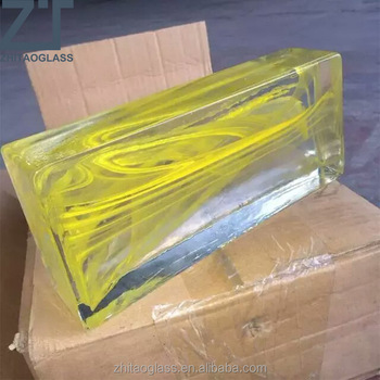 decorative building solid glass block for wall