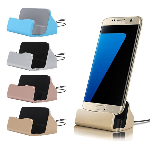 3 in 1 Micro USB Charging Holder + Desktop charging Station + Sync Data Transfer Dock Charger For Samsung Android Phone
