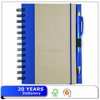 Recycle Brown Kraft Paper Notebook Custom Print Ecological Notebook