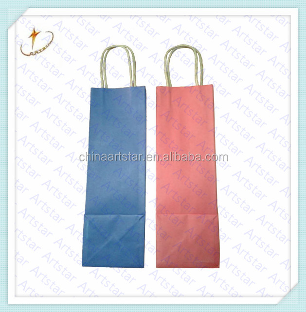 Kraft paper bag for wine,Flexo printing black wine paper bag