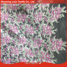 embroidered organza fabric in silk organza for the lady in evening dress