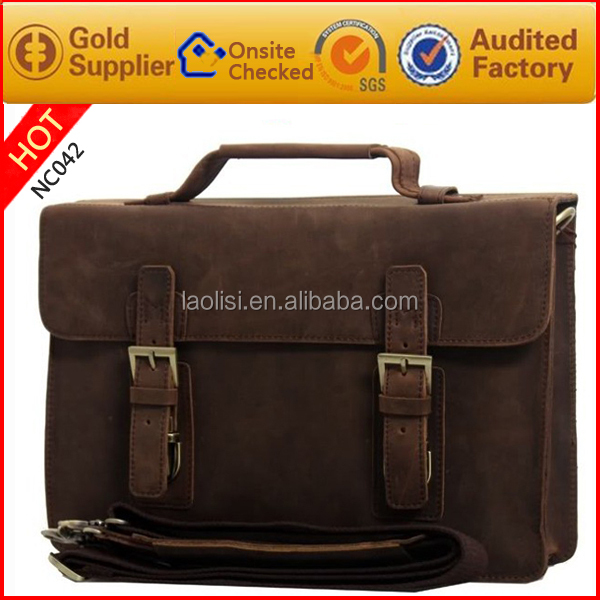 Guangzhou handbag factory vintage style 100% genuine leather shoulder bag