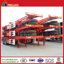 2015 New Designed Double Axle 20 Feet Container Trailer With Flatbed/Skeleton Chassis Optional