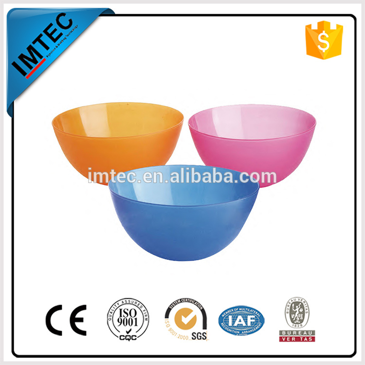 2016 imtec plastic series household items factory price salad bowl