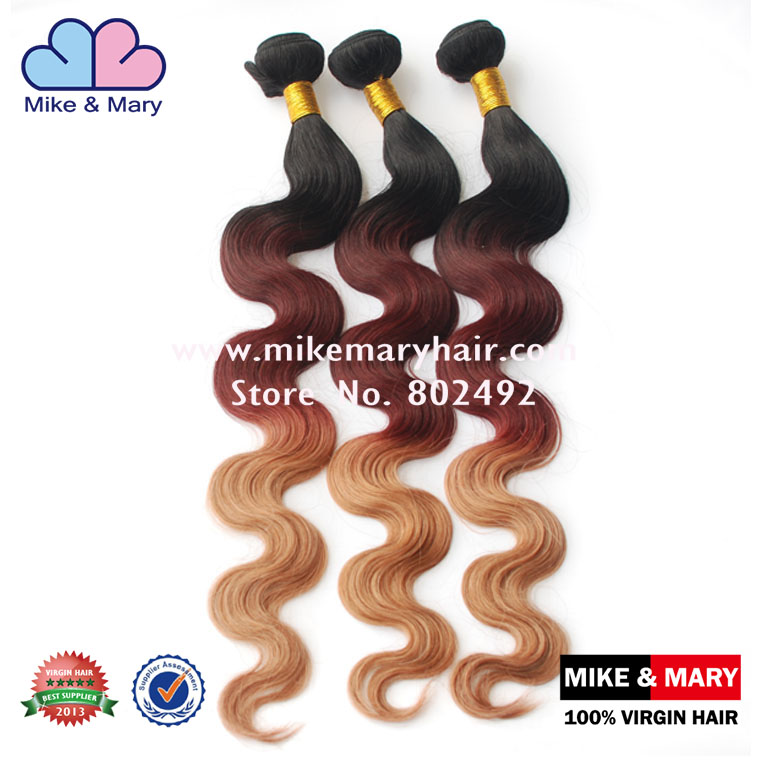 Cheap Brazilian Ombre Blonde Hair Extension With Top Grade