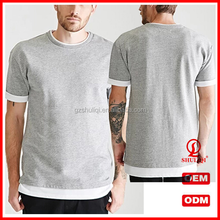 made in italy t shirt men plain grey short sleeve shirts solid color round shirt gym sport casual wholesale