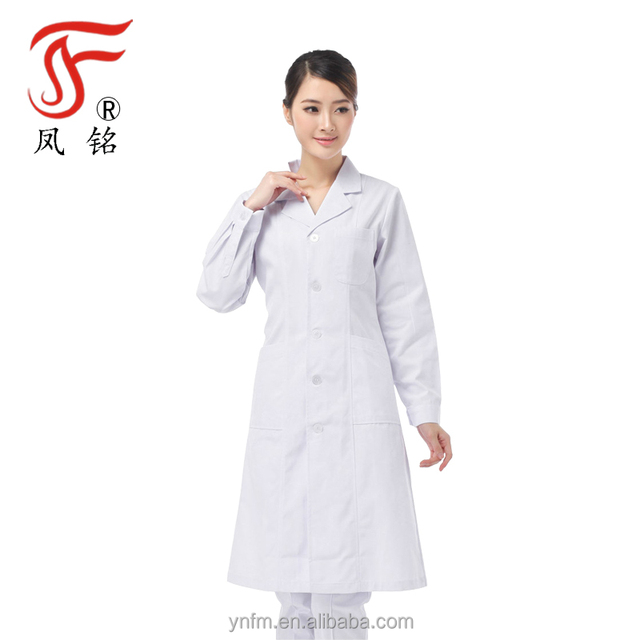 Hot Sale Doctor Medical Lab Coat Polycotton Hospital Doctor Uniform For Female