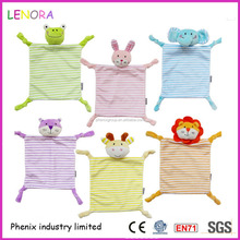 Hot promotion good quality the new super soft strokes towels saliva towel animal dolls plush baby toys