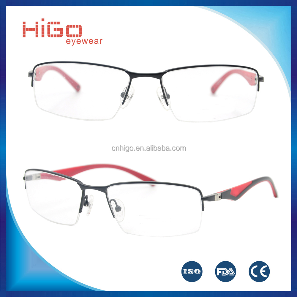 Trending hot products half-rim new fashionable stainless steel spectacle optical frames