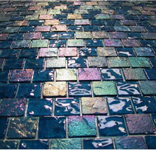 mosaic tiles glass,pearl glass mosaic tile,iridescent blue mosaic glass tile