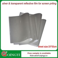 reflective heat transfer film for screen printing