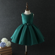 chinese wholesale suppliers satin sequin baby girl birthday dresses