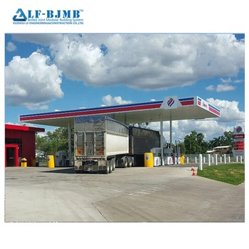 Architectural Design Standard: AISI, ASTM, BS, DIN, GB, JIS The best cost for gas petrol station roof canopy steel structure