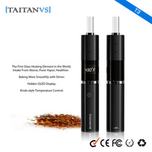 2016 Newest Dry herb vaporizer T3 Update Taitan clear quartz glass coil heating tube first one in the market health e cigarette