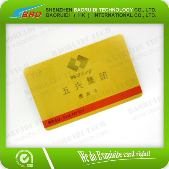 Gold Hotstamp Black Luxury Plastic VIP Card