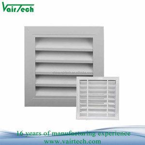 Hot sale fixed aluminum large air louver grille