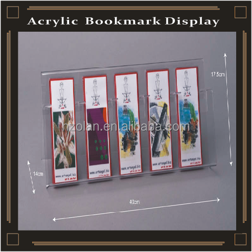 acrylic bookmark display stand holder