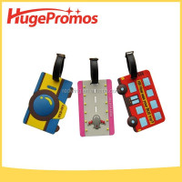 Eco-friendly Bag Name Tag Soft PVC 3D Luggage Tag