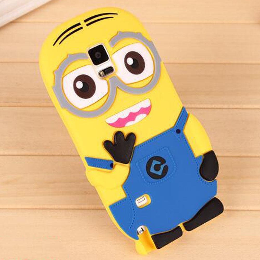 Minion silicone soft cover for samsung mobile phone galaxy note 2 3 4 5 neo n7505 case