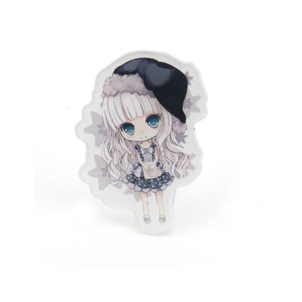 2018 make your own factory direct sale no minimum personalized promotional epoxy anime custom vograce acrylic pin button