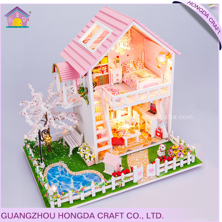 2017 New arrival factory supply doll house,doll house accessories