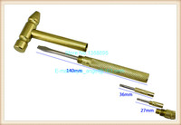 Free Shipping Removable Golden Hammer/Stainless Steel Hammer For Jewelry DIY/Repair Tools