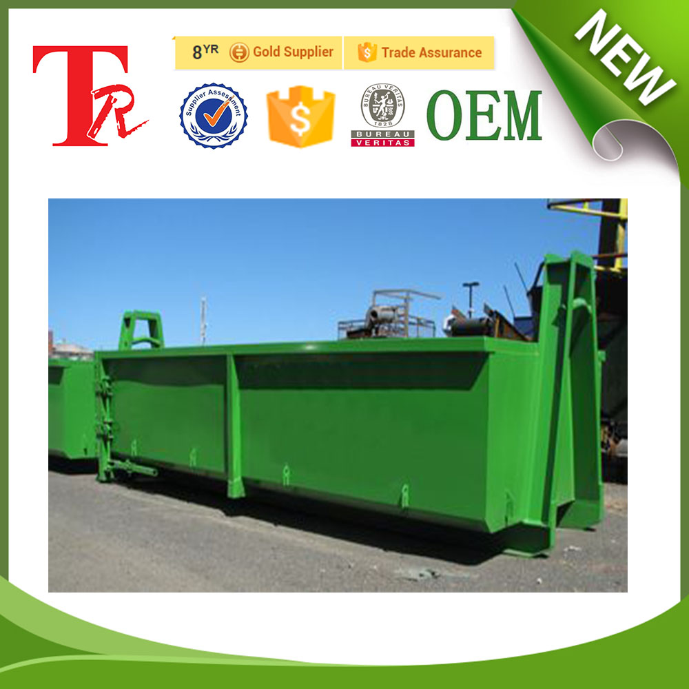 6 metre OEM newzeland roll on roll off hook bin for general waste service garbage recycling in china manufacturing factory