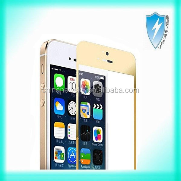 2.5D coloured tempered glass for iphone 6 gold tempered glass,color screen protector for iphone 6 tempered glass full cover