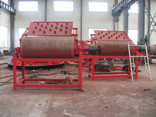 Dry magnetic drum separator for iron sand separation