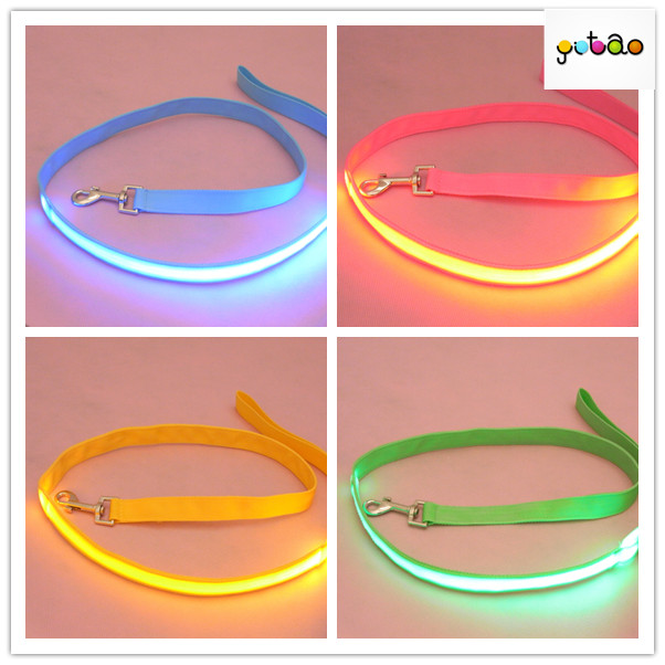 2016 HOT ITEM high quality led lighting pet leash