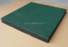 Walkway Gym rubber floor tiles/dark green rubber floor tile