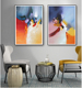 Frameless creative canvas abstract art prints painting wholesale