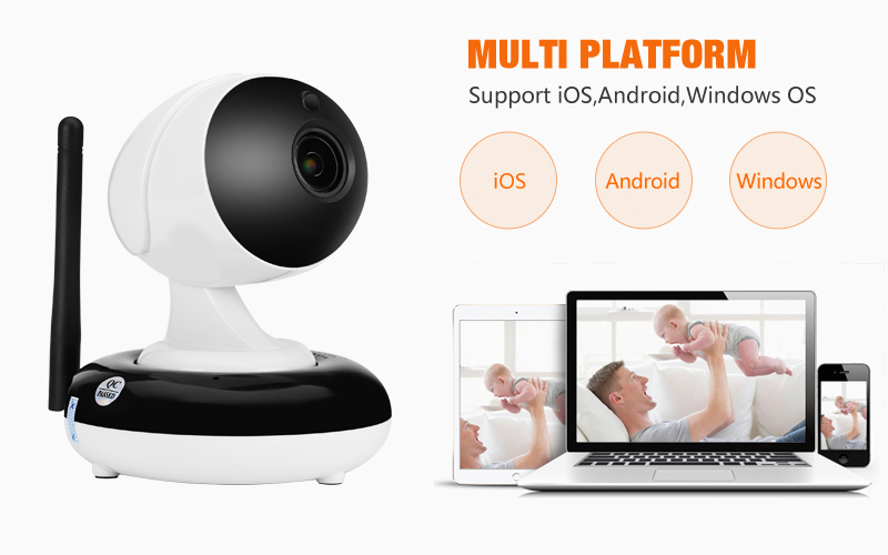 indoor mini wifi wireless surveialnce security camera support up to 128G TF card storage ip camera