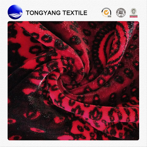 durable silk-stocking discharge printing spun velvet fabric best selling