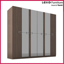Home Furniture Wood Almirah Designs 4 Door Wardrobe Cabinet Cheap Modern Mirrored Bedroom Mdf Wardrobe