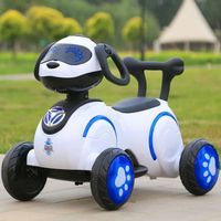 China factory kids battery operated cheap electric car purple dog car toy cars for kids to drive