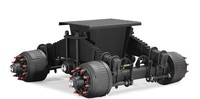 Trailer and semi trailer bogie use air suspension/air suspension kits