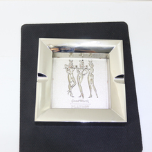 custom square silver ashtray | men's beauty ashtray