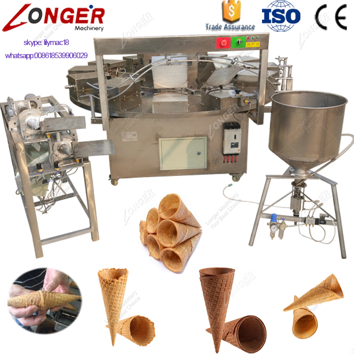 Commercial Rolled Sugar Biscuit Cone Maker Icecream Cone Machine for Sale