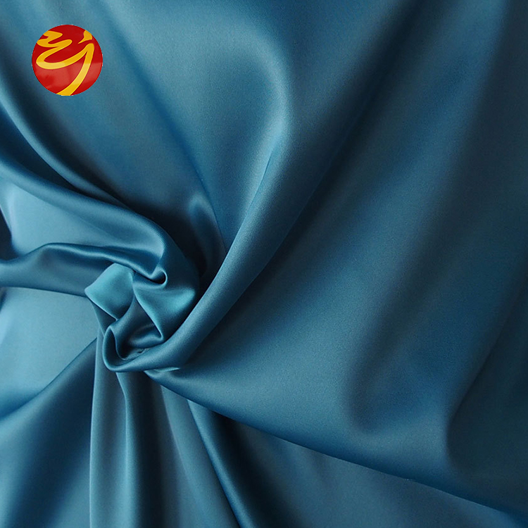 100% polyester stretch poly satin fabric