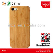Two parts bamboo cell phone case with custom logo engraving