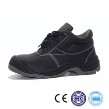 211004 China factory PU outer sole Genuine leather safety boot working shoe