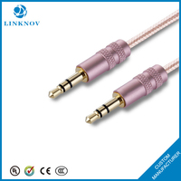 Quality 3.5mm Automobile Audio Aux Braided Cable Extension Hemp Rope Audio Cable