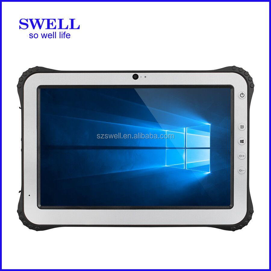 "I12 tablets 10.1"" window android NFC fingerprint 1D/2D barcode scanner docking tablet ip65 vesa mount RS232 p computer shenzhen"