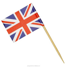 Wooden Decoration Union Jack Flag Cocktail Picks