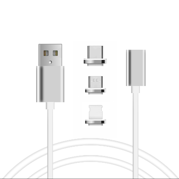 Mobile phone charging 3 in 1 USB 2.0 charger magnetic cable