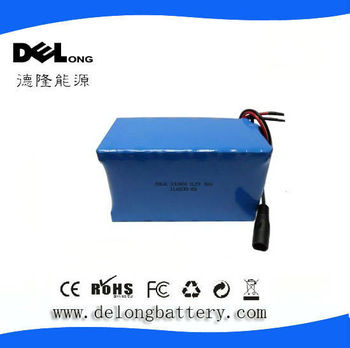 12V 18650 18Ah lithium battery for Fishing devices