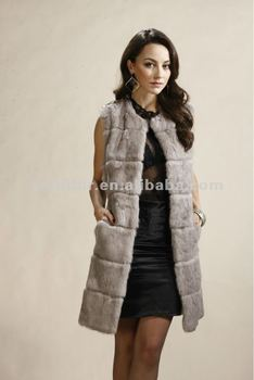 2015 women real rabbit fur vest with good quality