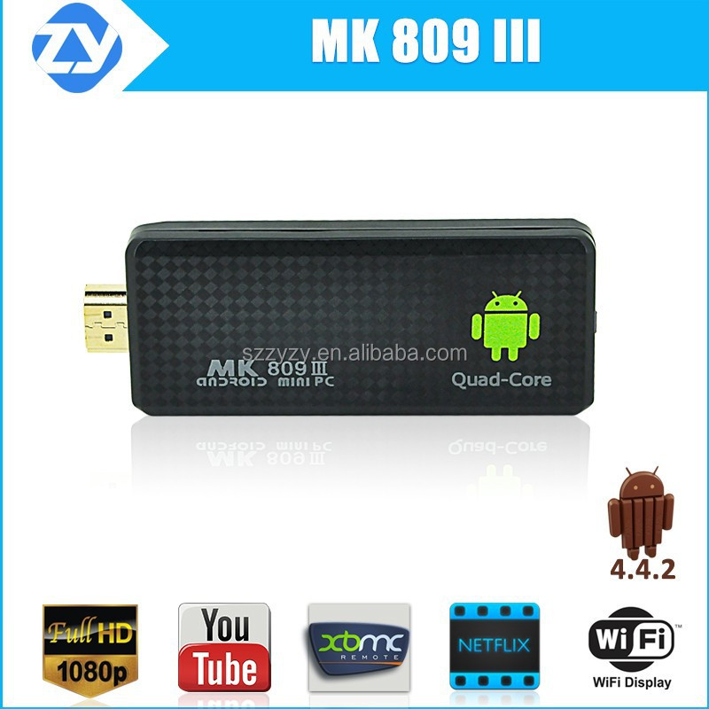 2015 New products Quad Core RK3188-A9 1.8Ghz 2GB 8GB mk809 iii android 4.4 smart cheap mini pc